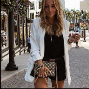 Zara NWT white blazer with French cuffs